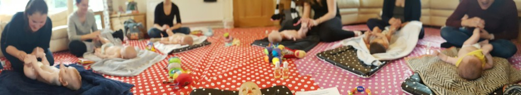 baby massage class with Louise Prince
